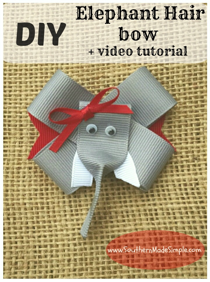 DIY Elephant Hair Bow Ribbon Sculpture + Video Tutorial