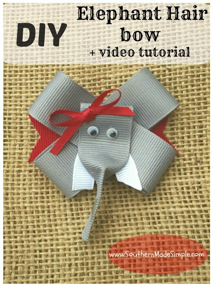 DIY Elephant Hair Bow Ribbon Sculpture + Video Tutorial