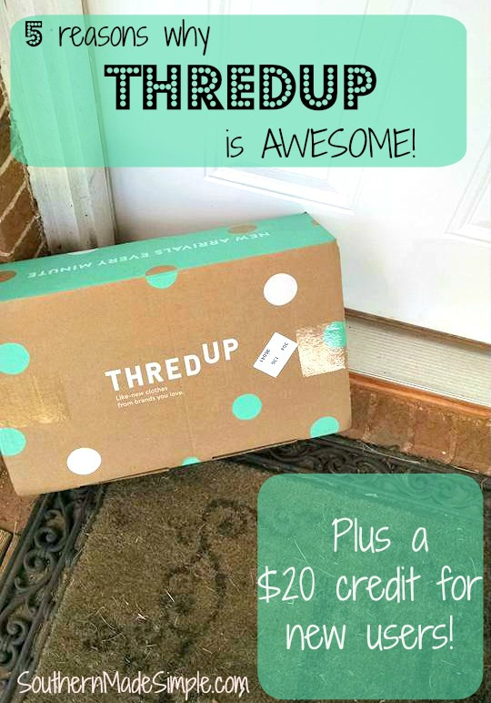 5 reasons why ThredUp is awesome + A FREE $20 credit for new customers!