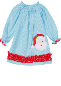Applique-Santa-Face-Turquoise-Gingham-Girl_s-Peasant-Dress_large