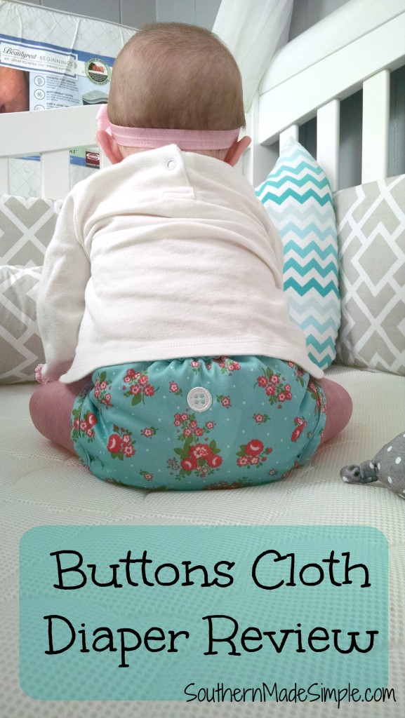 Cloth Diapers that are cute as a button! Buttons Cloth Diaper - Review