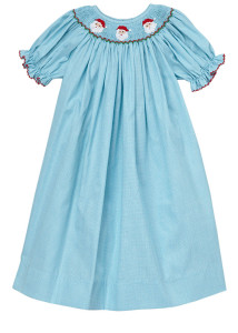 Hand-Smocked-Santa-Faces-Aqua-Gingham-Girl_s-Bishop-Dress