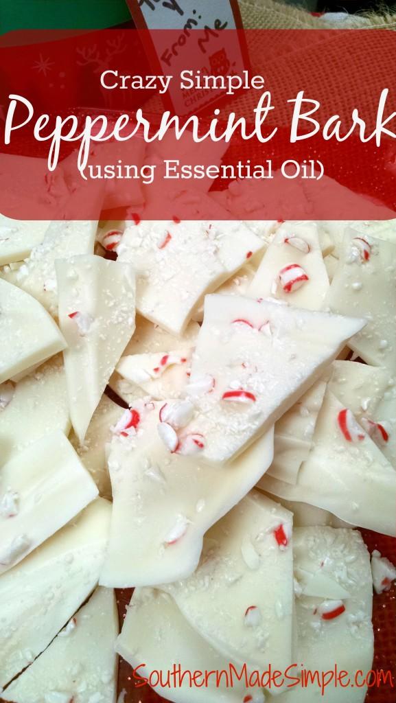Easy Peppermint Bark Recipe using Peppermint Essential Oil