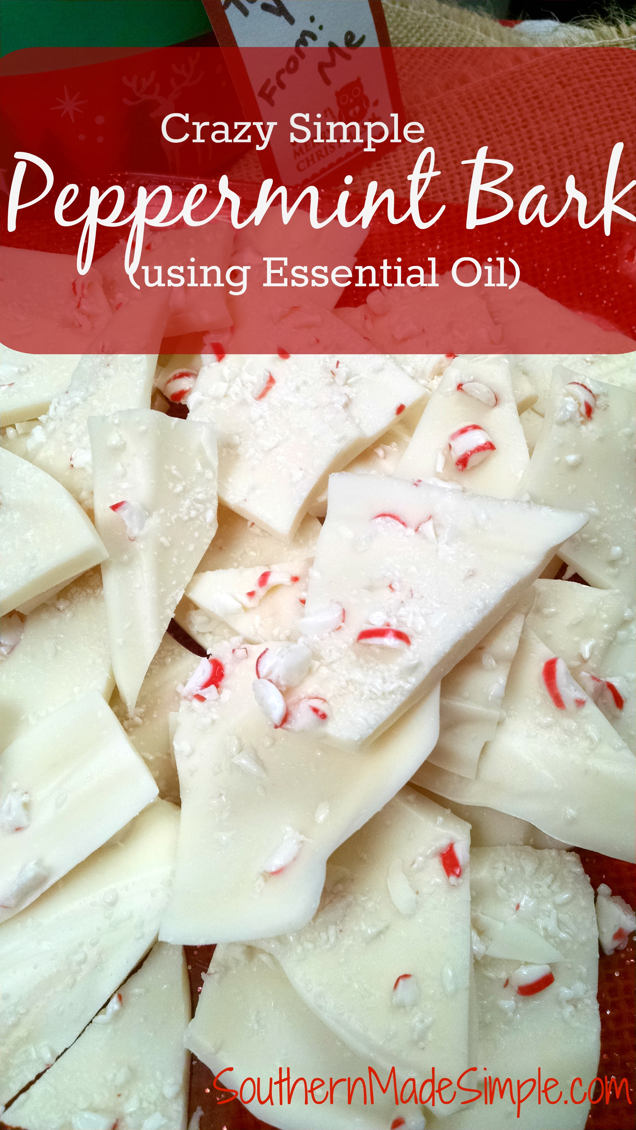 Crazy simple peppermint bark easy peppermint bark recipe using peppermint essential oil forumfinder Image collections