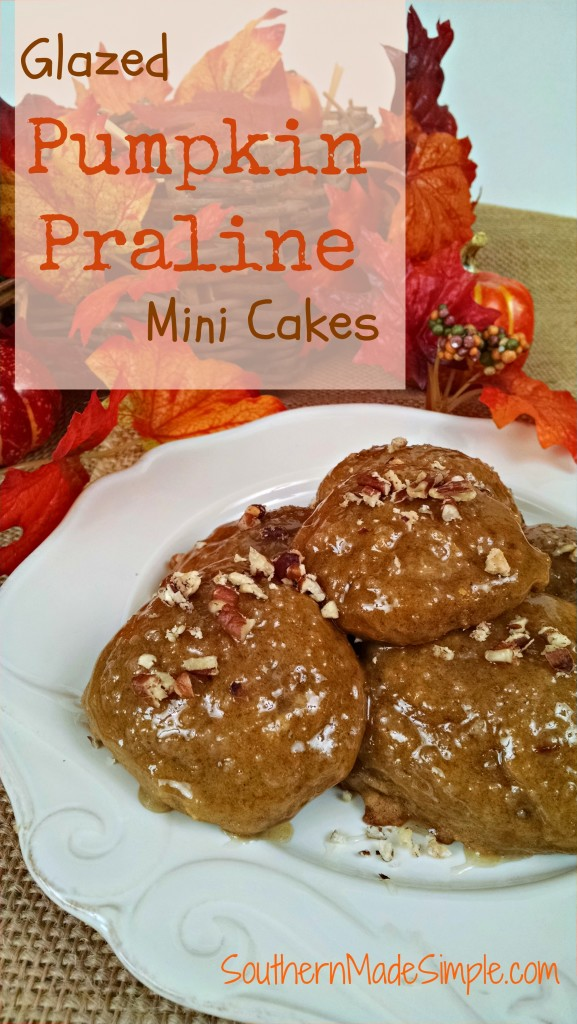 These Pumpkin Praline mini cakes are SO delicious and perfect for a holiday treat!