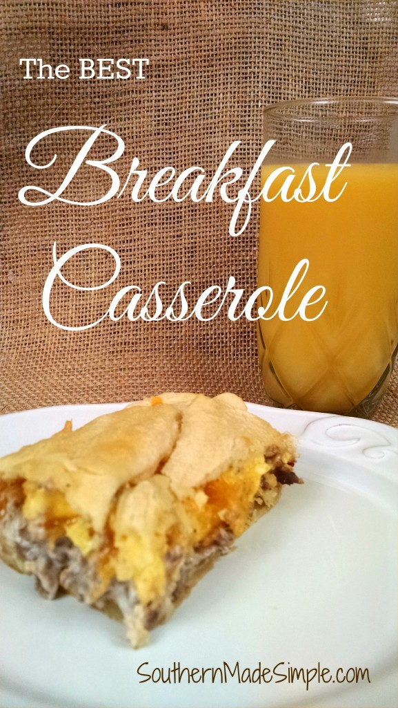 The BEST breakfast casserole ever! This would make a great dish for brunch, too!