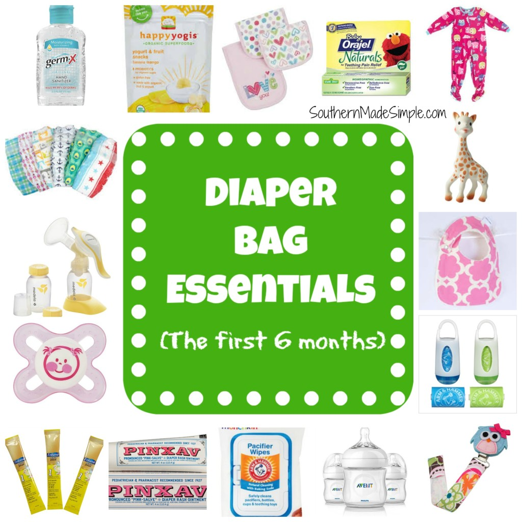 Diaper Bag Essentials for the first 6 months