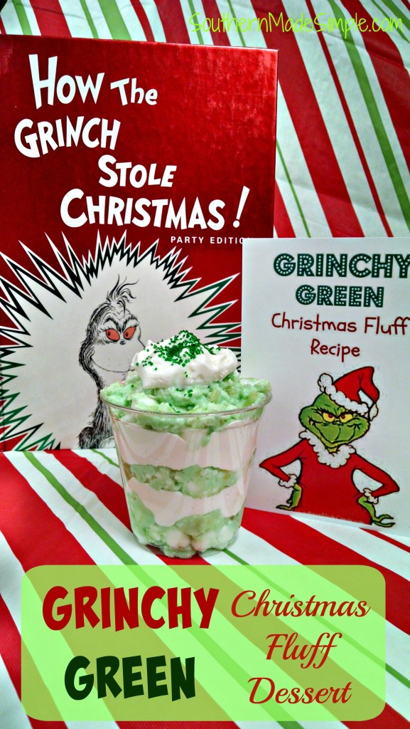 The Grinch Green Fluff Recipe - The Grinch often gets a bad rap. Celebrate his sweet side with this delicious dessert!