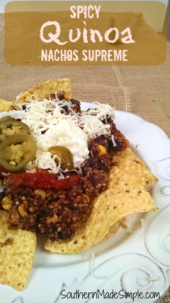 Quinoa Nachos Supreme Recipe - This is a fun and healthy twist on classic nachos!