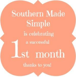 Southern Made Simple is 1 Month Old! {+ Giveaway! Ends 12/12}