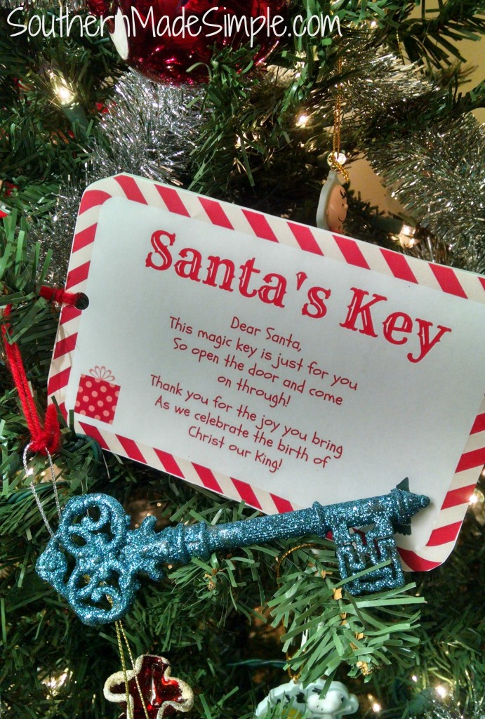 Santa Key + Free Printable! When there is no chimney for Santa to go down, he uses this magic key and enters through the front door!