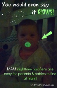 MAM glow in the dark pacifiers