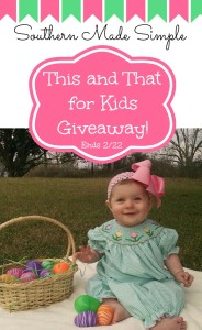 This and That for Kids Spring Collection + $25 Gift Code Giveaway! Ends 2/22