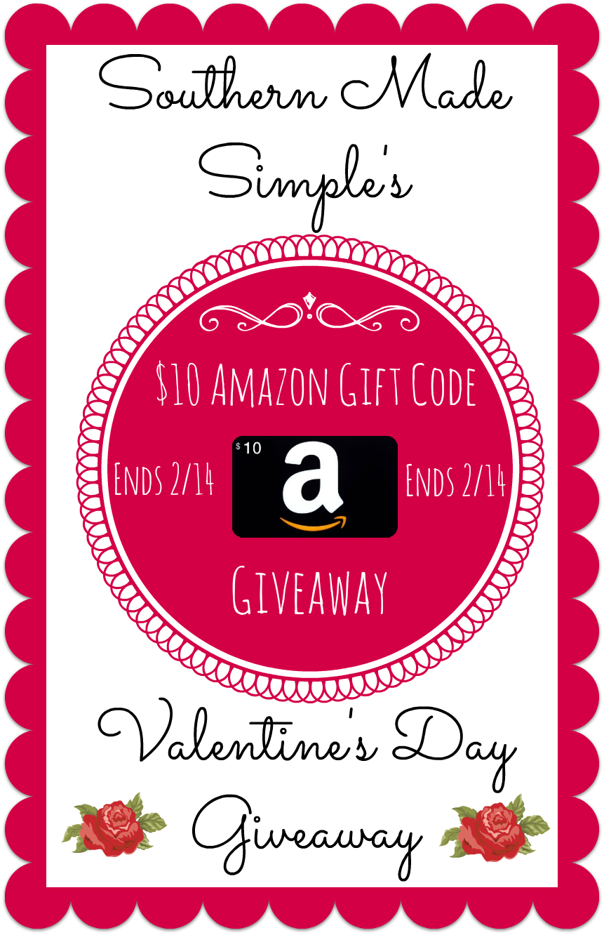 Valentine's Day Amazon Gift Code Giveaway! Ends 2/14