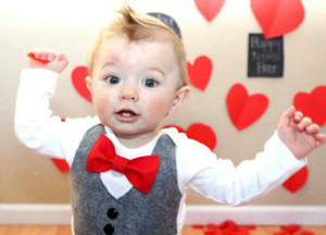 Sew Loved Baby - Red Bow Tie Vest
