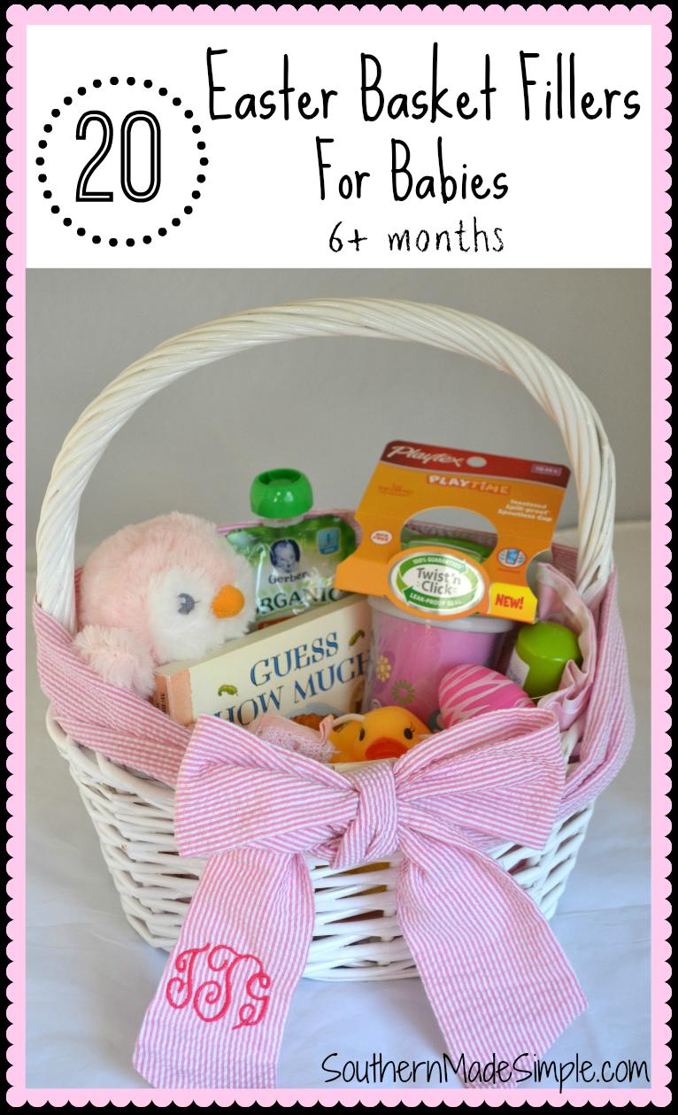 20 Easter Basket Filler Ideas for Babies