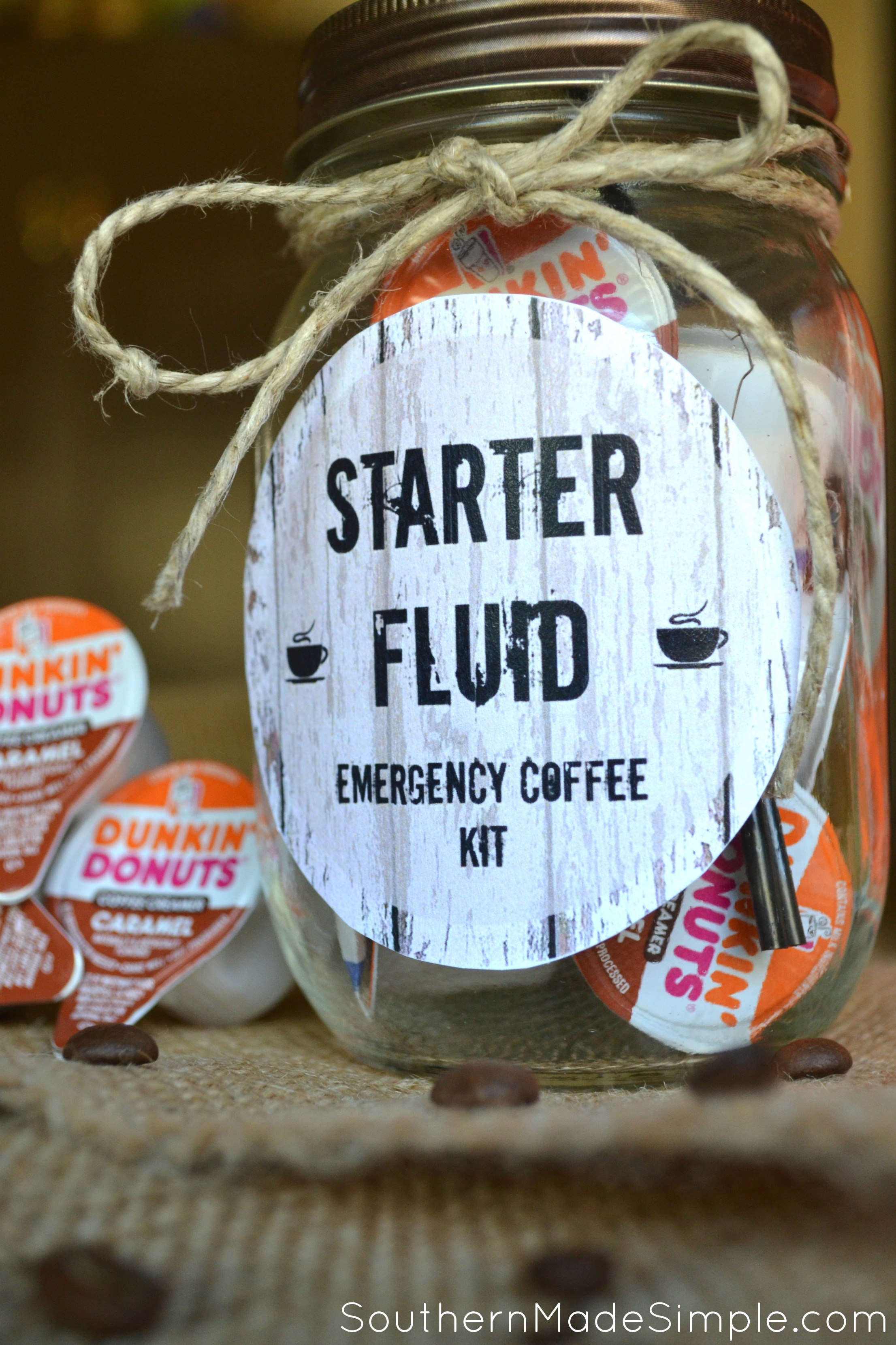 DIY Starter Fluid Emergency Coffee Kit + free printable #ad #DDCreamers