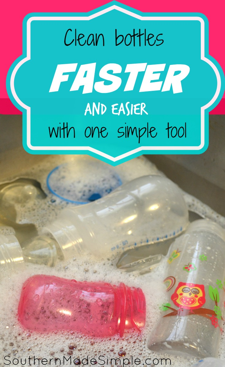 Tied of cleaning all of those baby bottles? Clean them faster and easier with this!