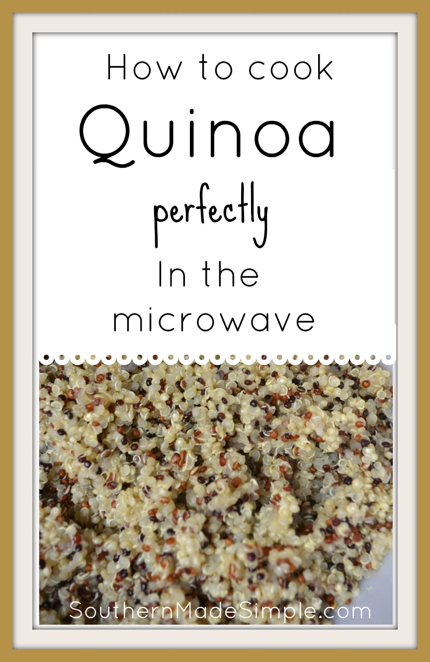 How to cook quinoa in the microwave - perfectly every time!