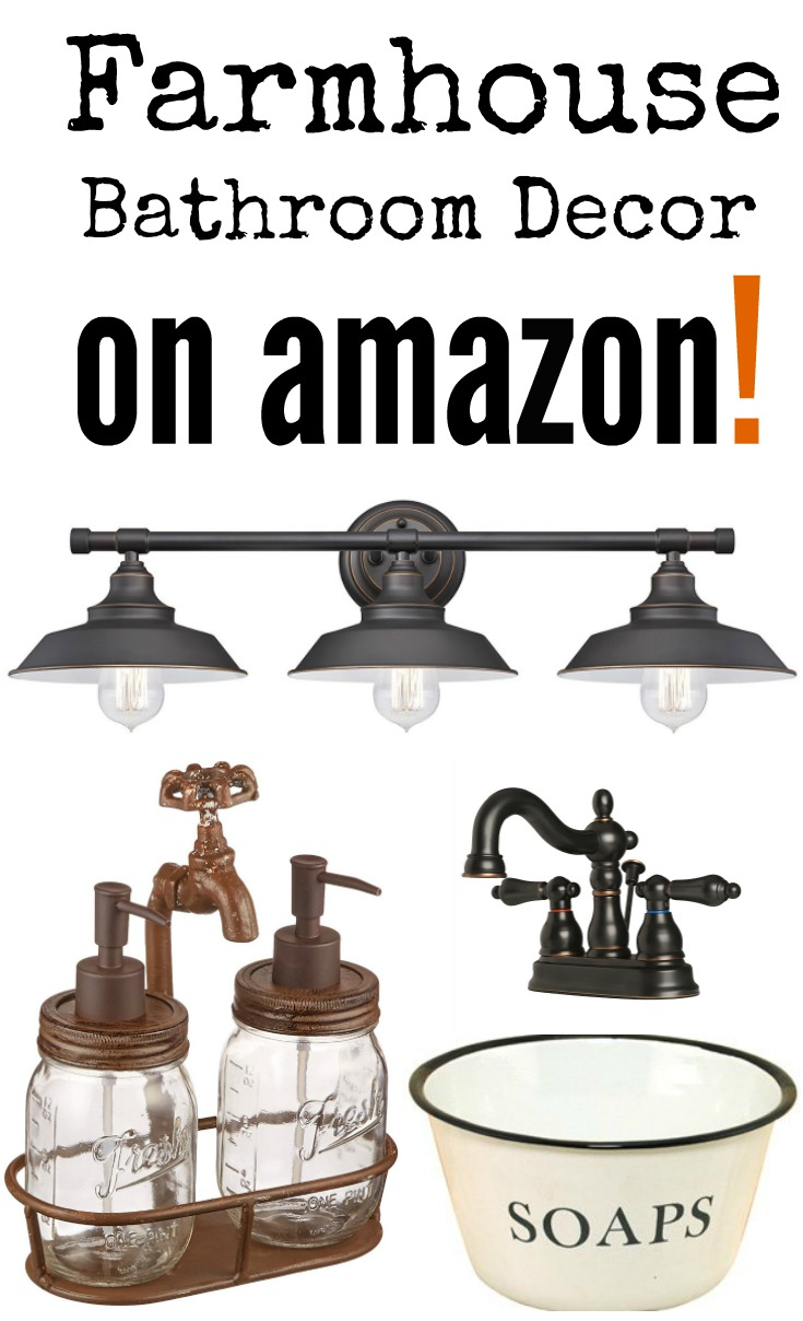 14 farmhouse bathroom finds on amazon southern made simple for Bathroom decor on amazon
