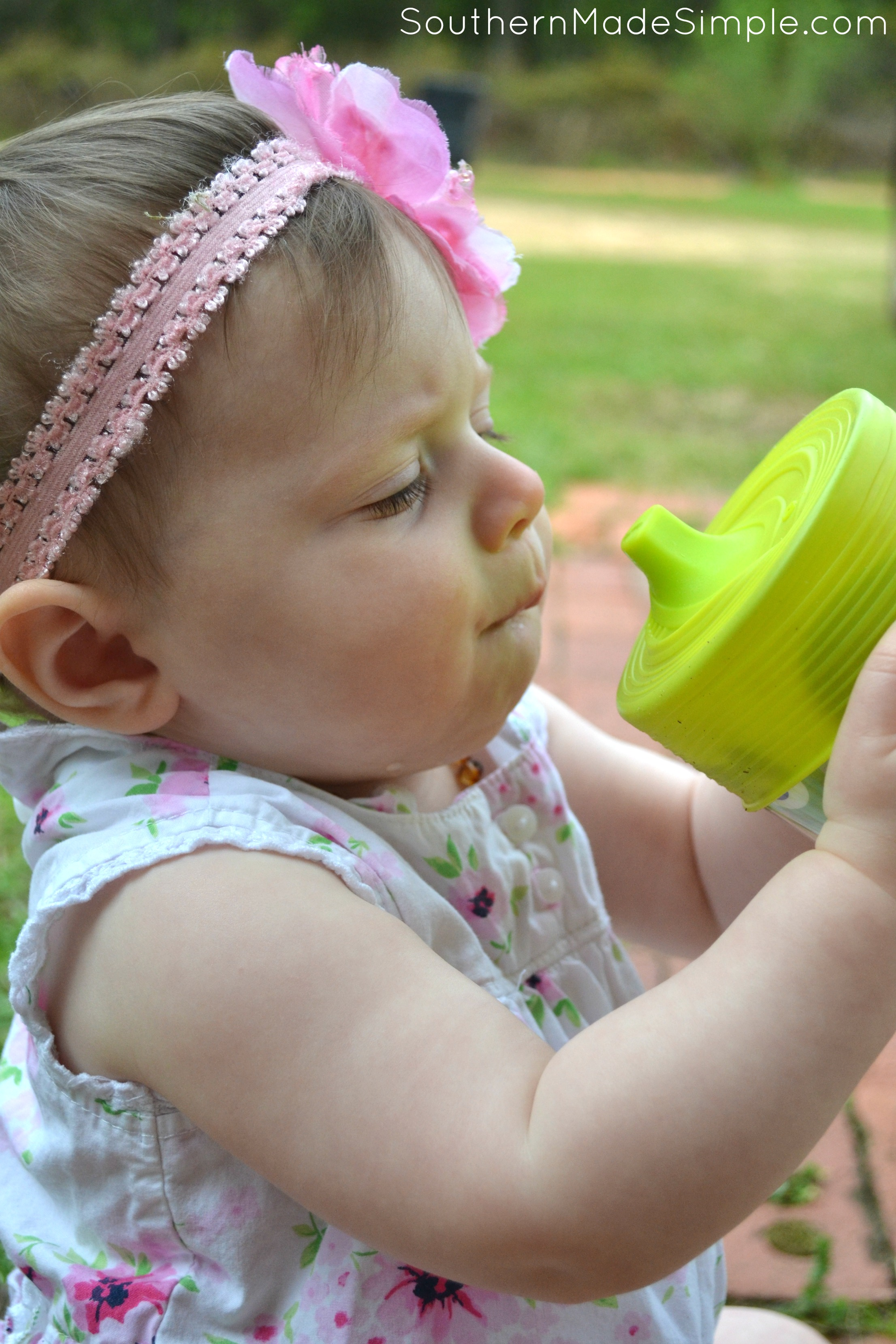 Turn any cup into a sippy cup with this neat product!