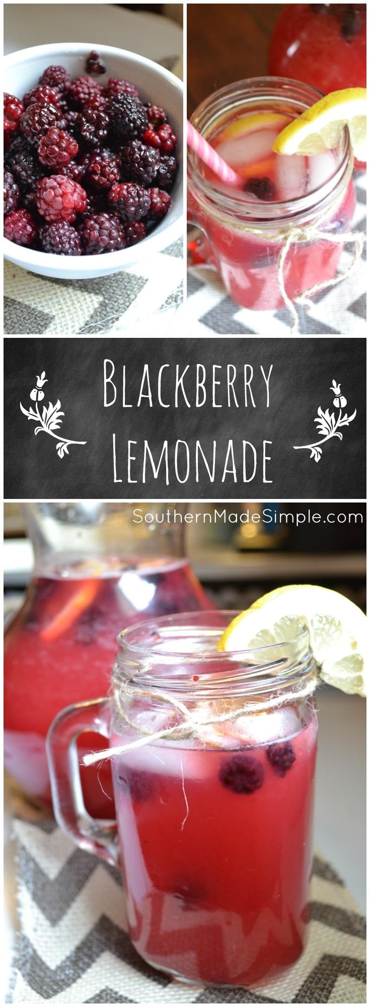 Refreshing Blackberry Lemonade - A PERFECT summertime treat!
