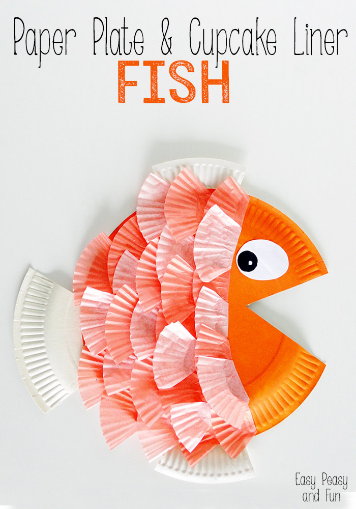 Paper Plate And Cupcake Liner Fish Craft Southern Made Simple