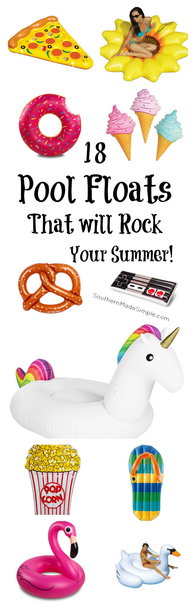 Pool Floats that will ROCK your summer! And they're all available on Amazon!