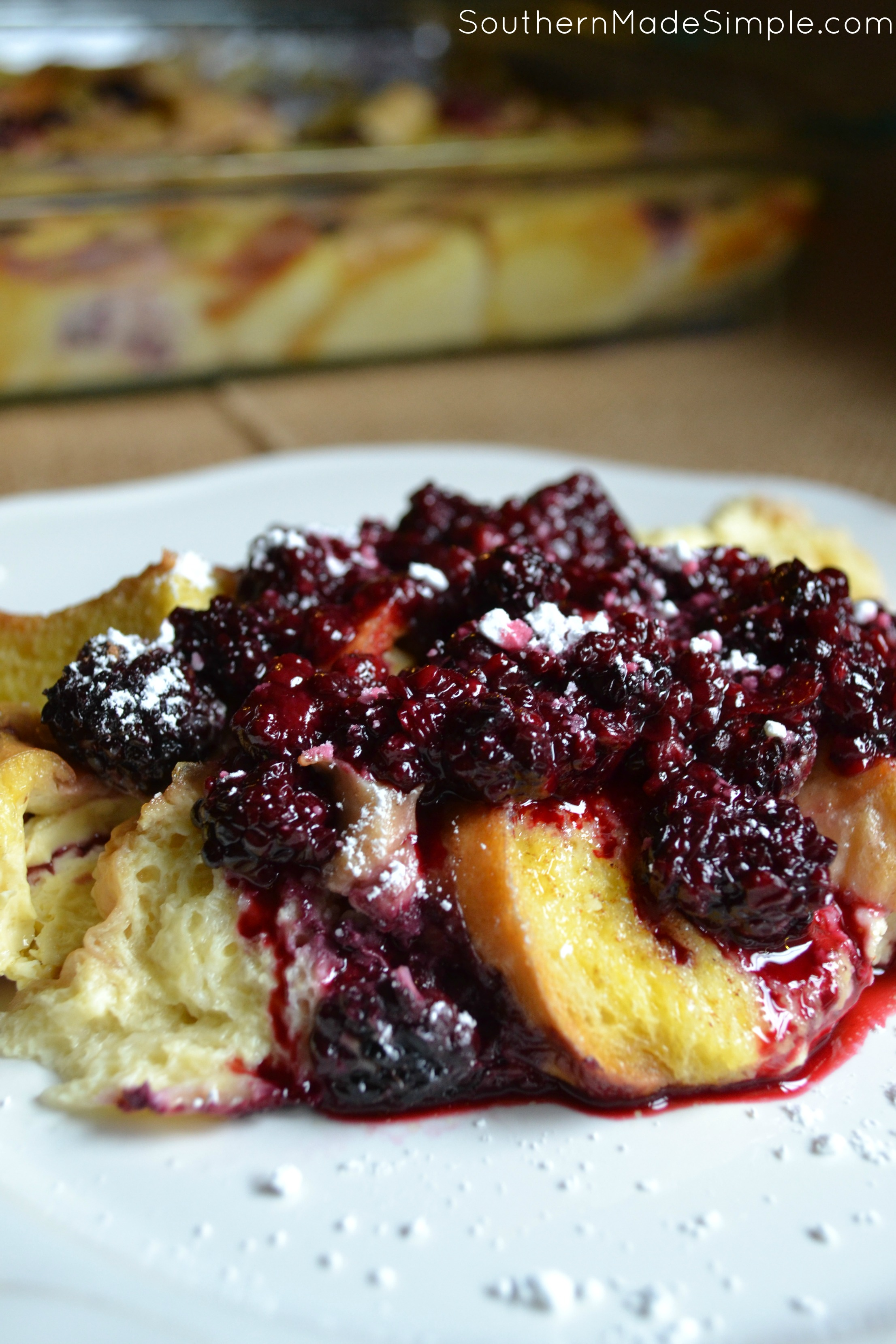 Blackberry Cream Cheese French Toast Casserole