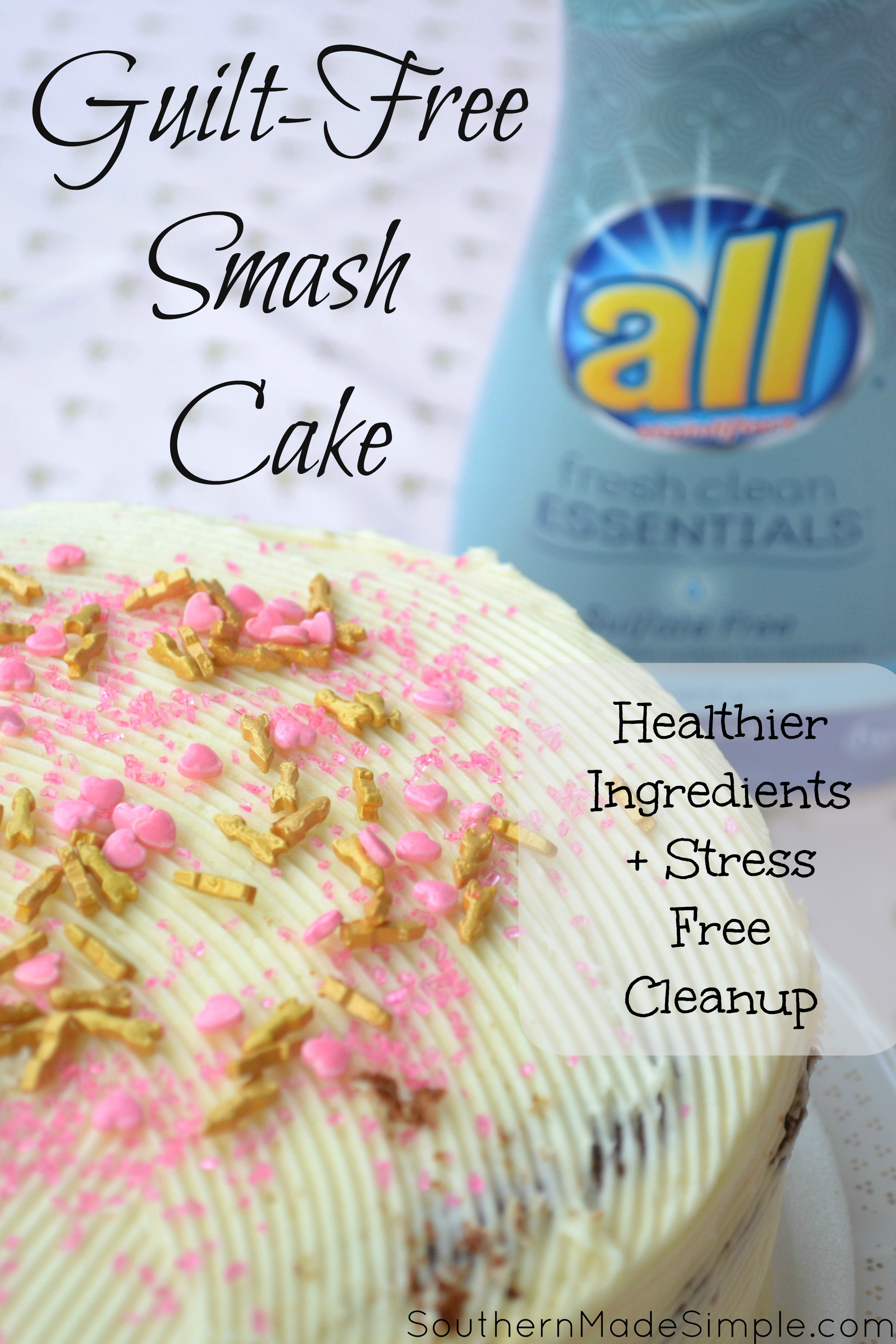 Guilt-free smash cake: Healthy Ingredients + Super Easy Cleanup! #allEssentials #ad