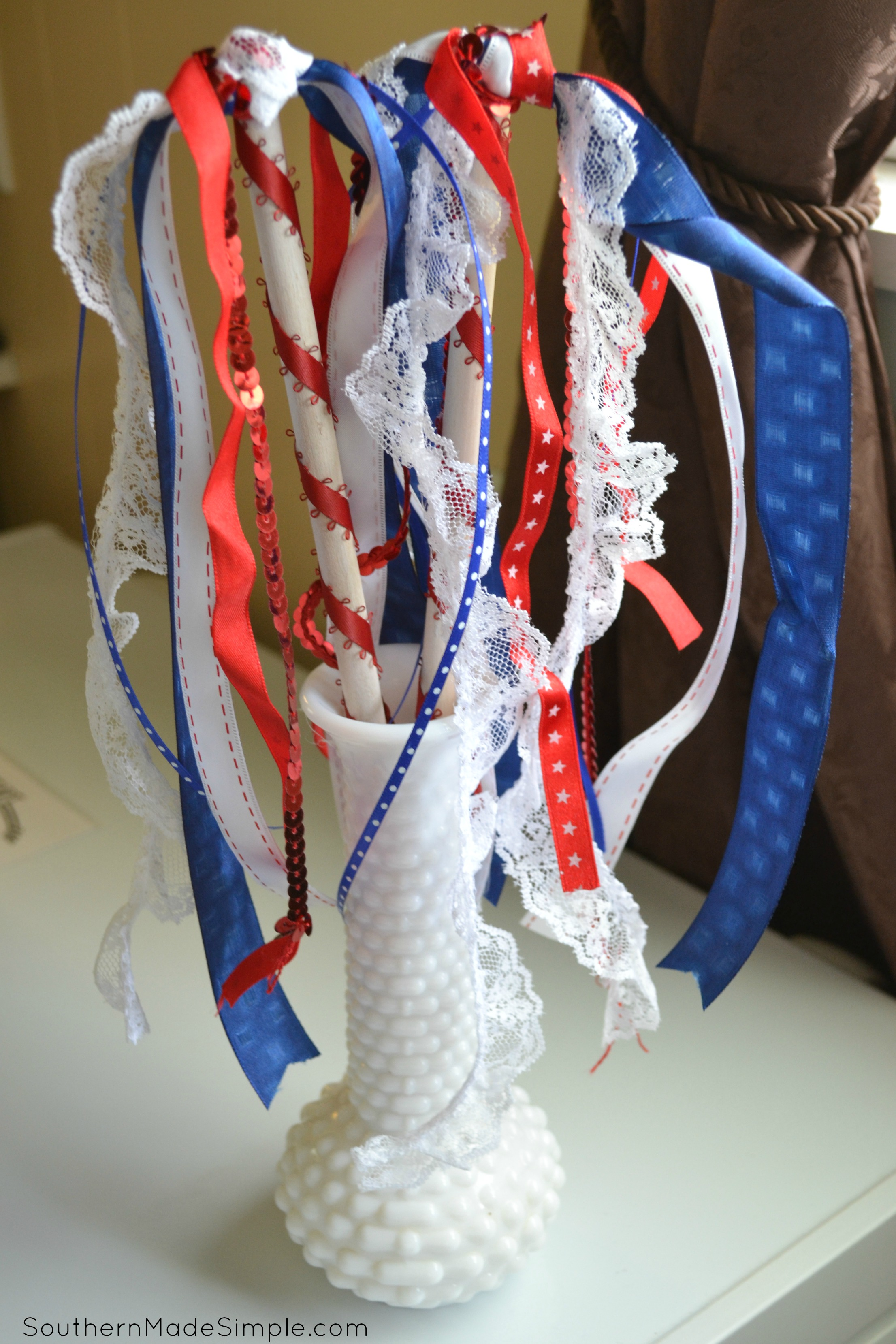 4th of July Craft: DIY Ribbon Wand - the perfect alternative to sparklers!
