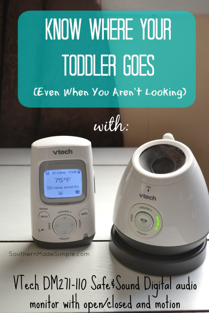 Know where your toddler goes - even when you aren't looking! The VTech Safe&Sound DM271-110 Audio Monitor provides peace of mind and gives you eyes in the back of your head when you really need them! #VTechBaby #ad