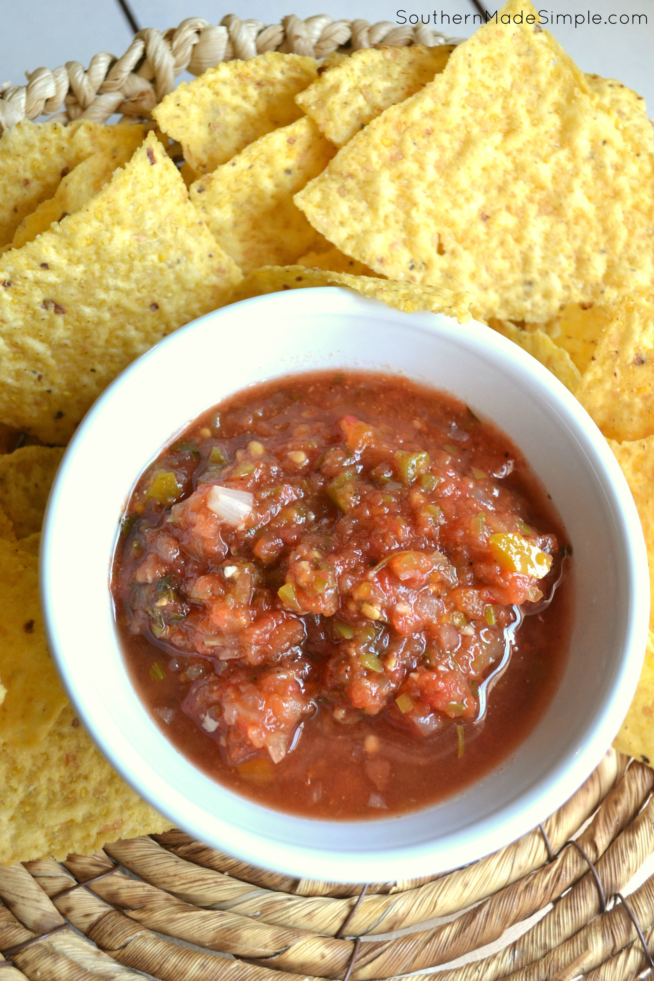 This salsa recipe is the BEST! I made a large batch and it was gone before the weekend was over!