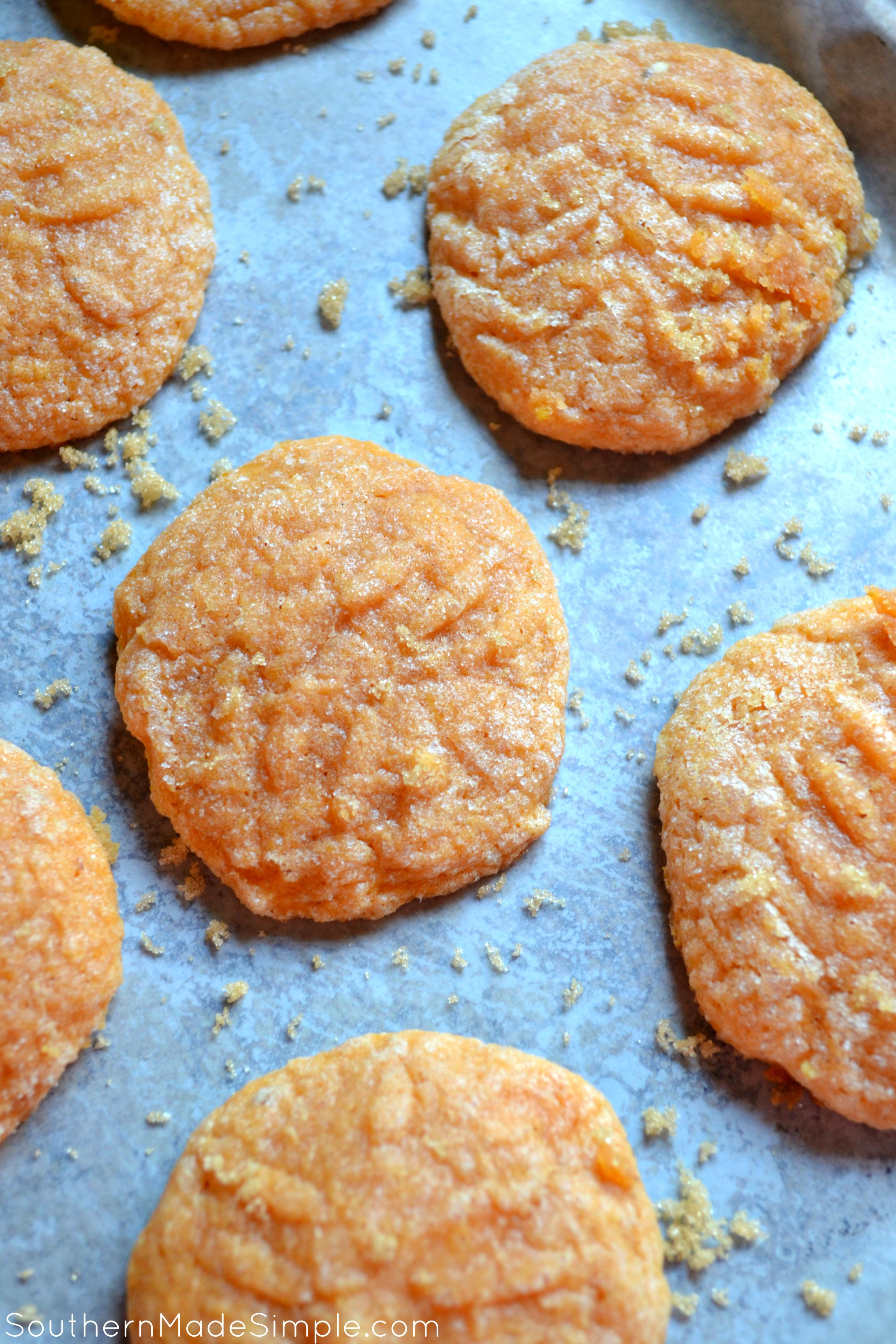 Soft Batch Pumpkin Sugar Cookies - These cookies are a perfect Fall treat! They're so good, you can't have just one!