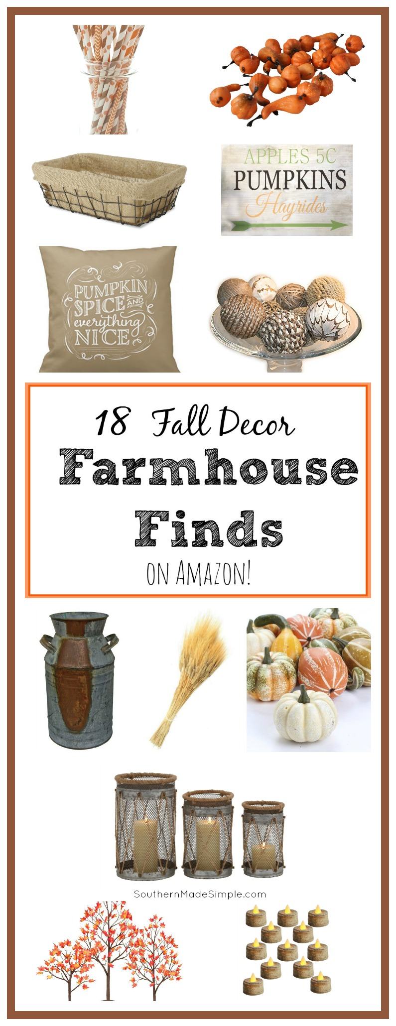 18 Fall Farmhouse Decor Items available on Amazon! Hello, 2 day shipping!