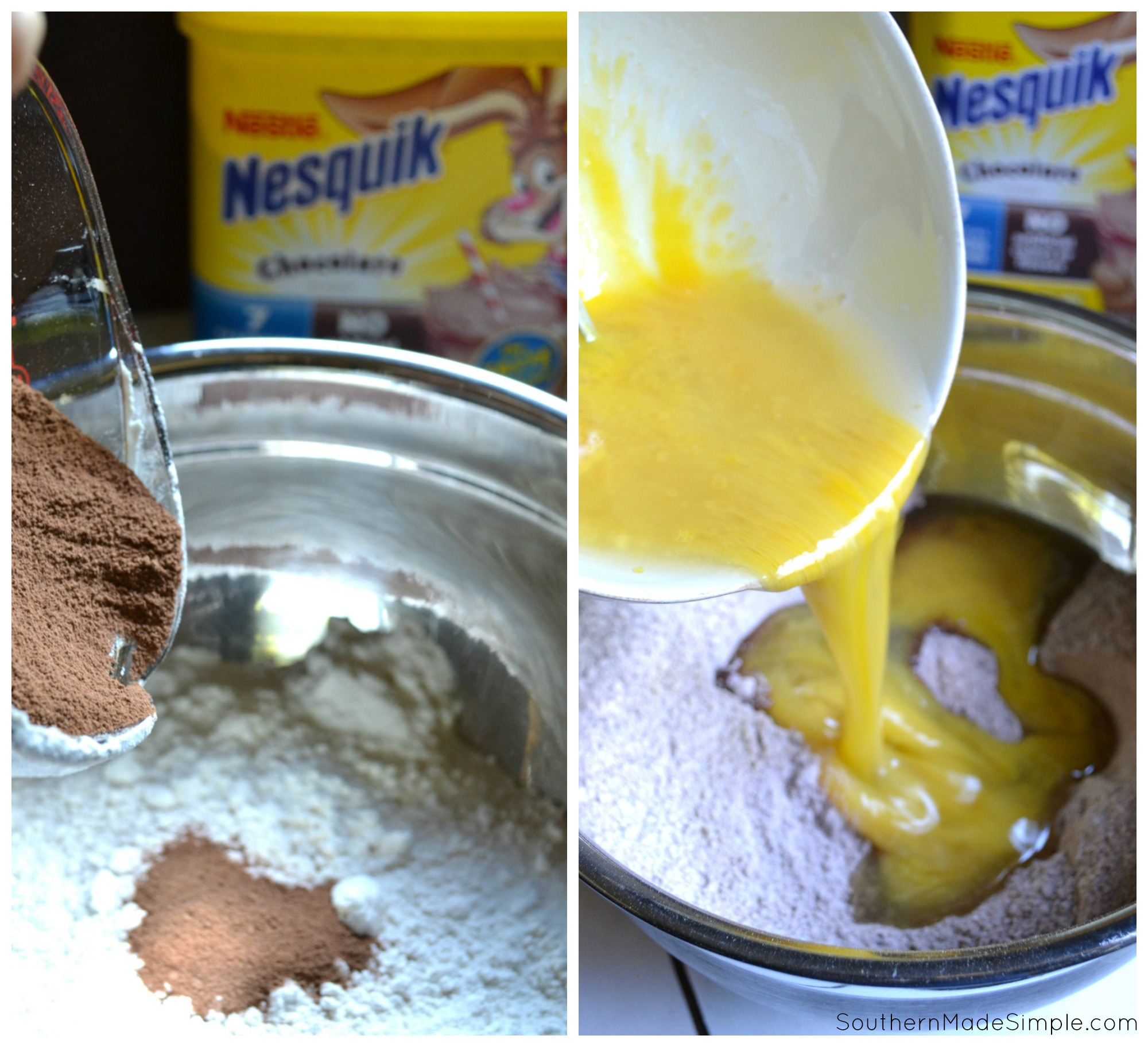 We all know that Nesquik make your milk taste amazing, but adding it to your brownie mix takes things to a whole nother level! Nesquik brownies are simple, delicious and even contain 7 essential vitamins and minerals! #StirImagination #ad