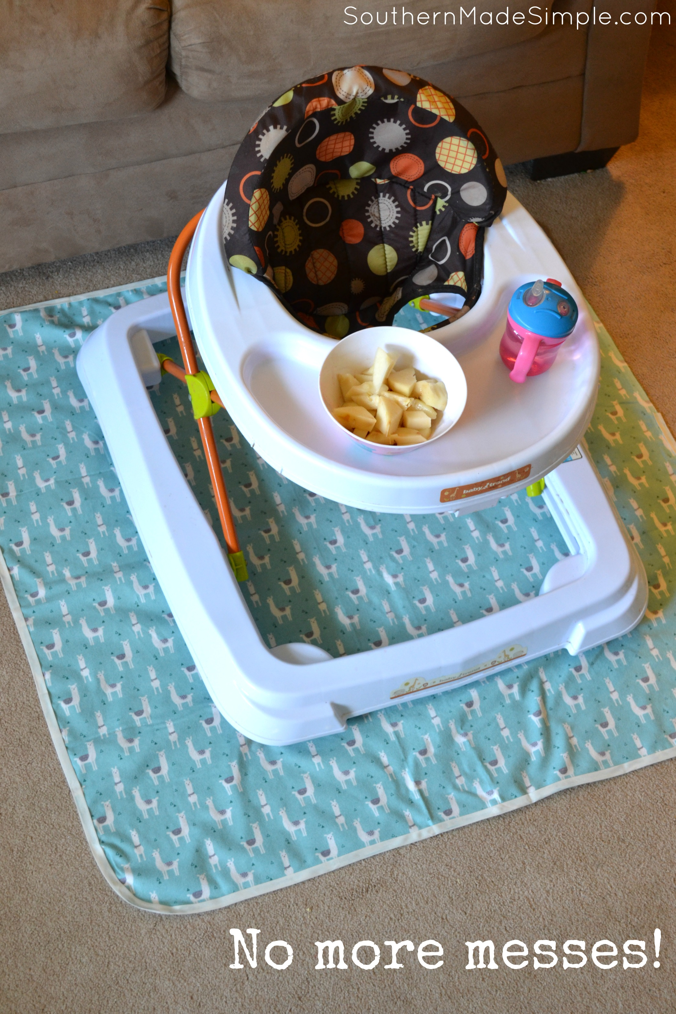Messy toddler ruling the house? Shield your floors with this DIY no sew splat mat! #ProtectYourEverything #ad