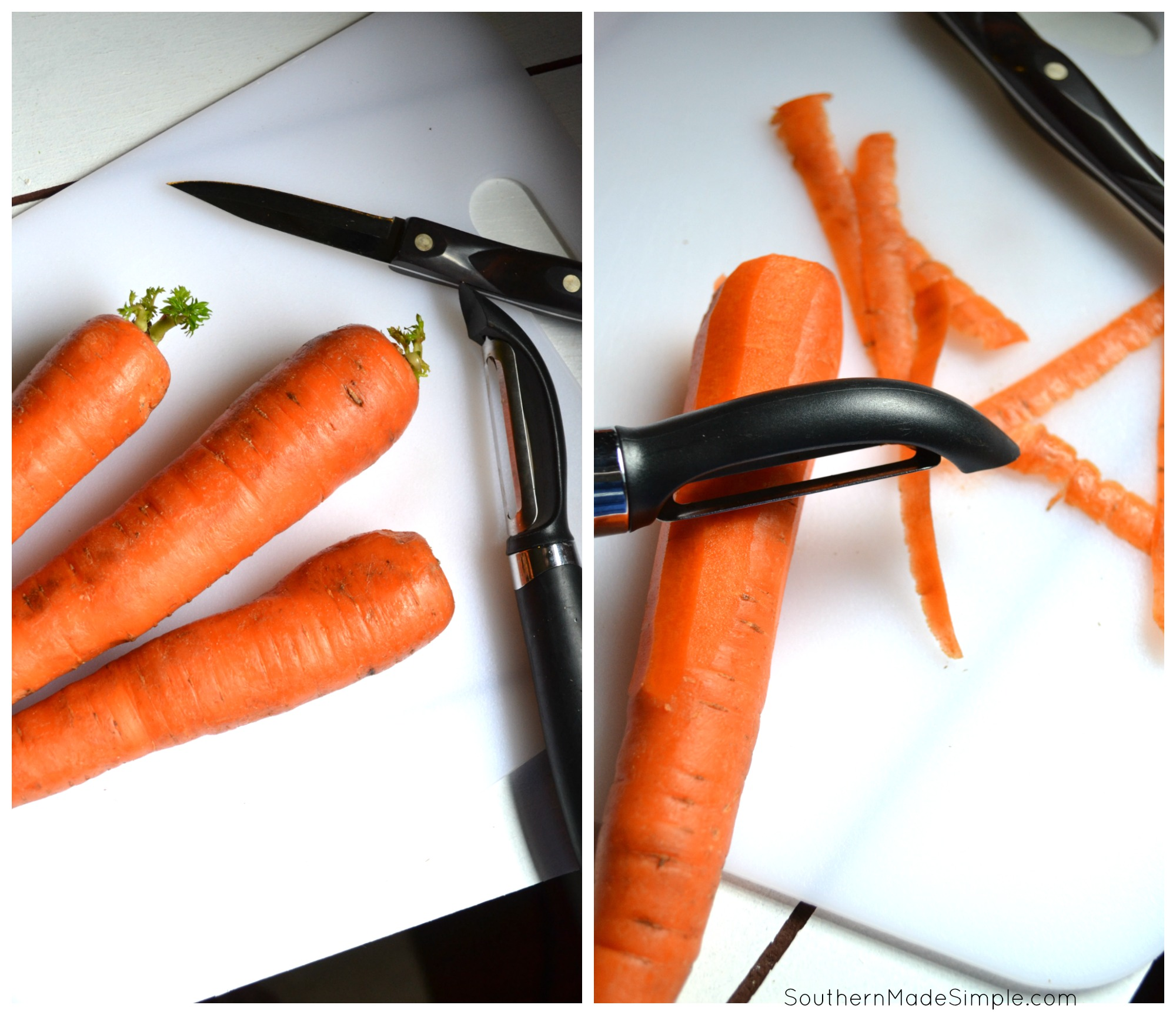 A simple step by step tutorial on how to freeze carrots