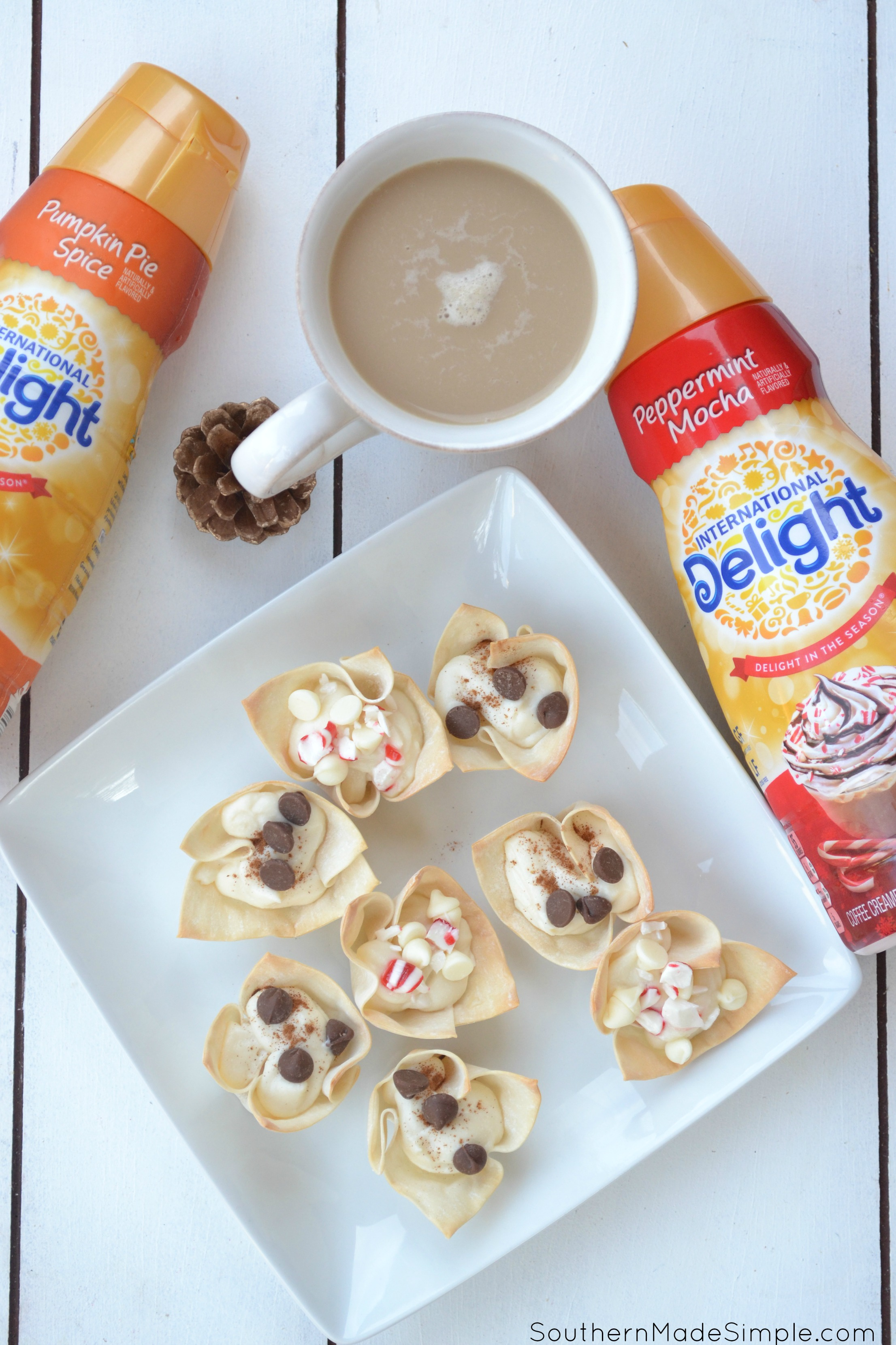 Looking for a simple and delicious treat to serve your friends and family during the holidays? These Peppermint Mocha Cannoli Cups are the perfect little dish to serve! #DelightfulMoments #ad @walmart