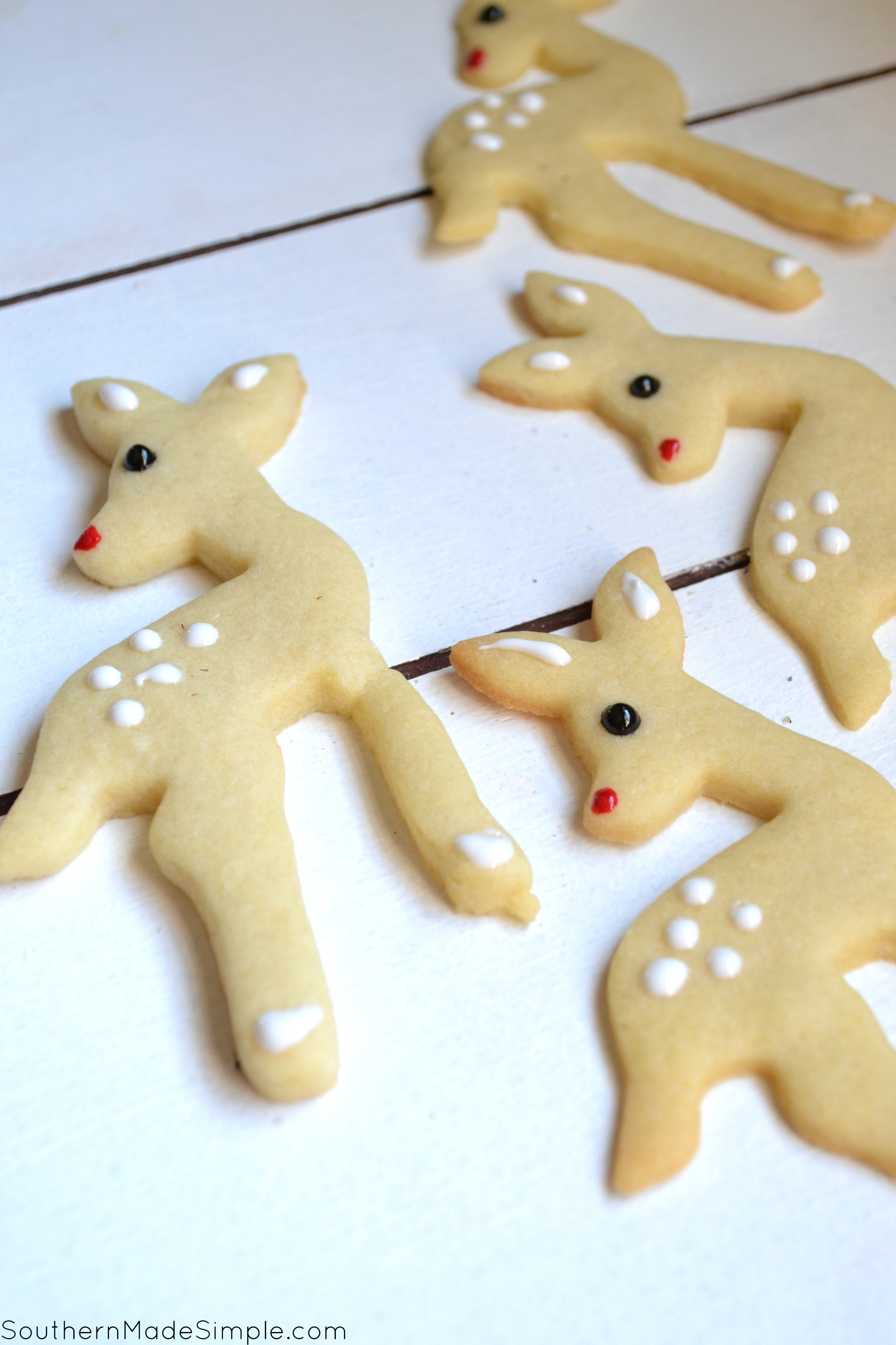 Easy Rudolf the Rednosed Reindeer Sugar Cookies