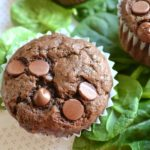 """Looking for a way to sneak in some extra veggies into your diet? Then these """"hidden"""" spinach chocolate chip muffins are right up your alley!"""
