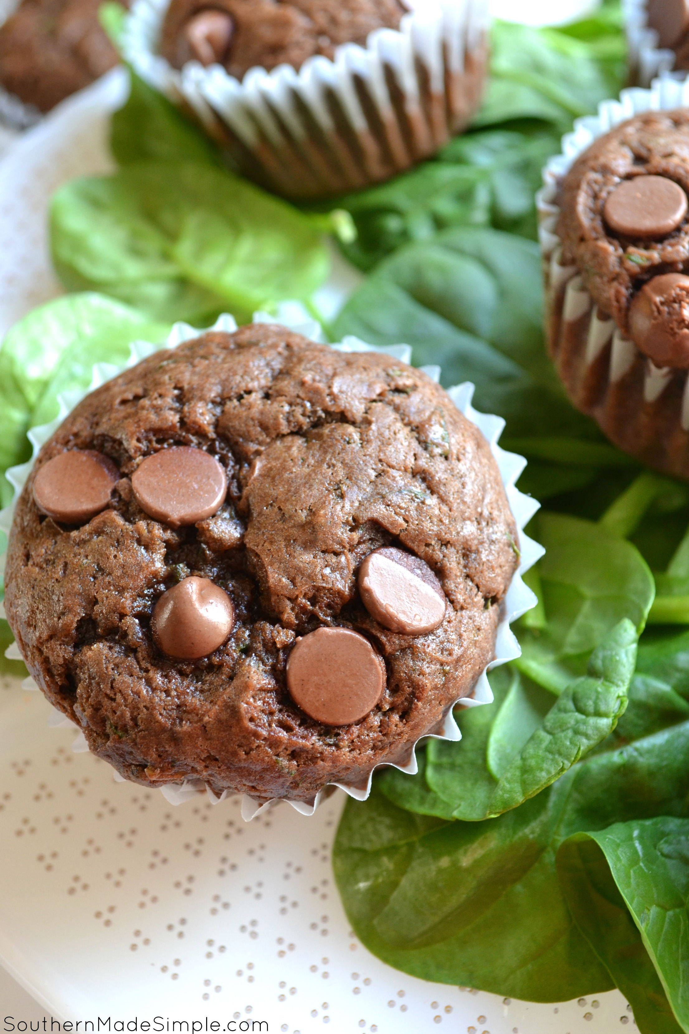 Chocolate Chip Spinach Muffins Southern Made Simple