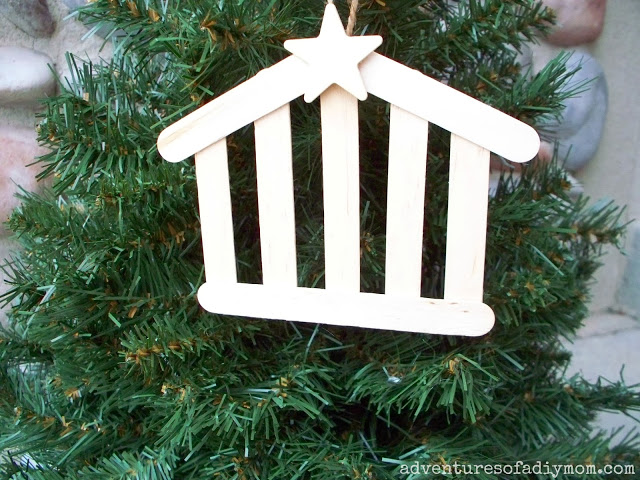 Christian Christmas Craft Ideas Part - 29: Large-stable-ornament