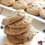 These Banana Nut Cranberry Cookies taste just like a delicious banana nut muffin, but in cookie form! They're perfectly moist, soft and chewy!