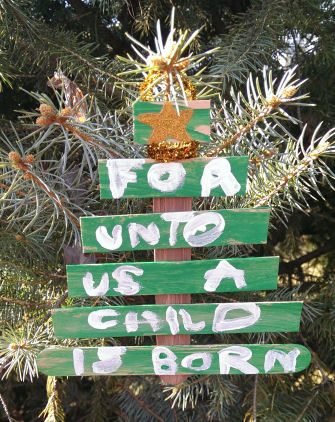 scripture craft stick christmas tree source fun at church - Religious Christmas Decorations To Make