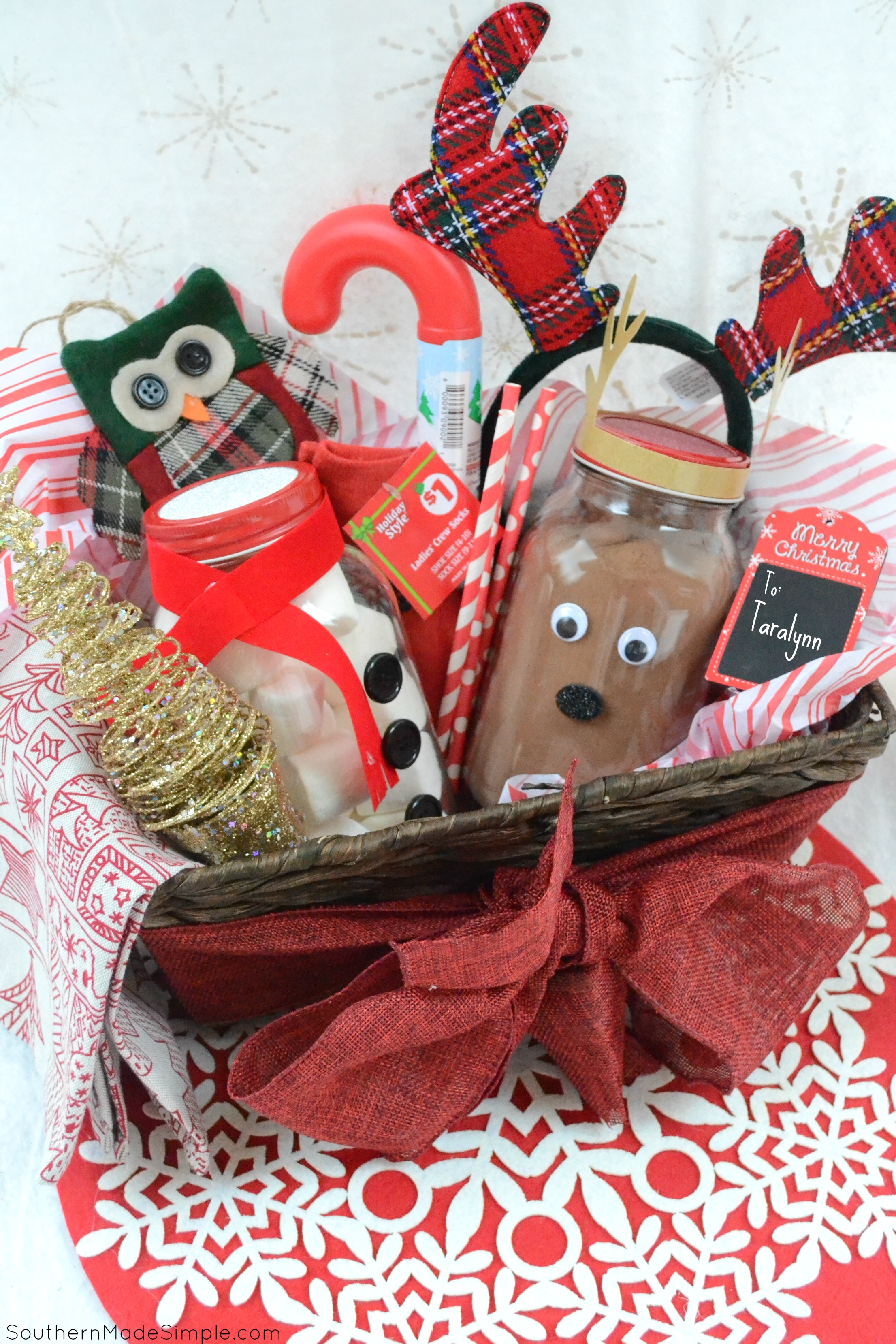 Christmas Gift Baskets Ideas.Easy Holiday Gift Idea Diy Hot Cocoa Gift Basket Southern
