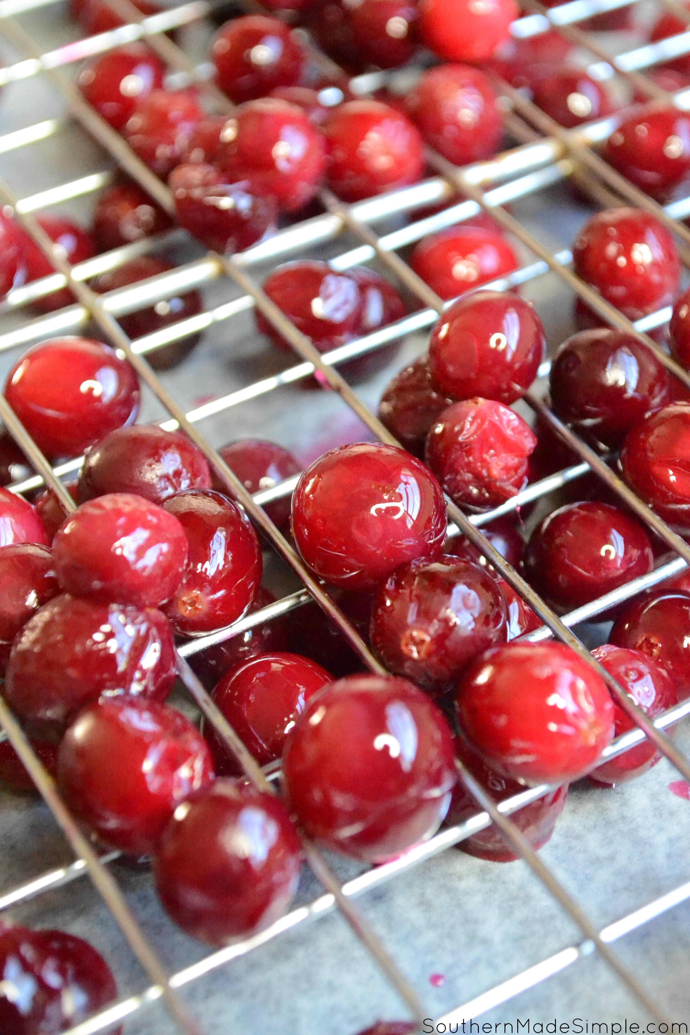 Sugared Cranberries - an easy way to use up leftover cranberries from your holiday baking!