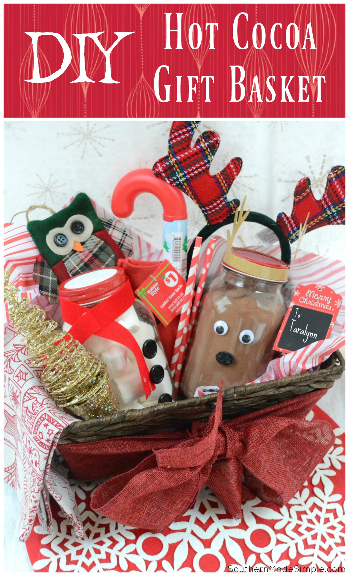 Easy Holiday Gift Idea: DIY Hot Cocoa Gift Basket - Southern Made Simple
