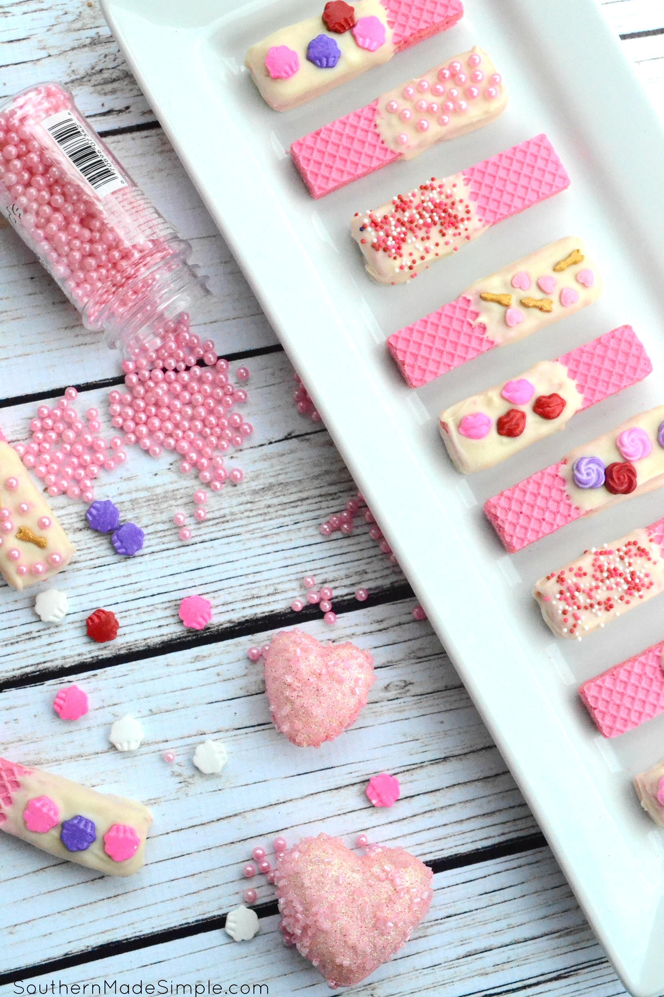 Strawberry Valentine Sugar Wafers