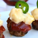 Are you getting ready for the Big Game? Try these Mini Jalapeno Meatloaf & Mashed Potato Poppers! They're sure to be the MVP on everyone's dinner plate! #KetchupWithFrenches #ad